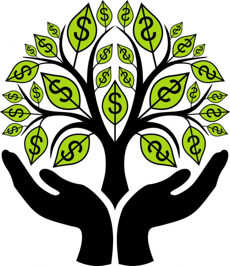 black wealth building money tree