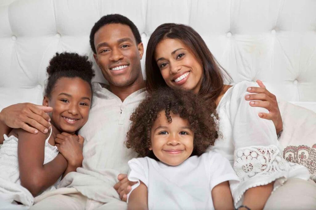 black family with kids